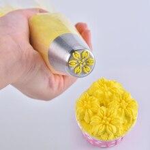 Кондитерские сопла VOGVIGO с напылением цветка помадки крема сопла Кондитерские из нержавеющей стали глазури трубопроводов сопла выпечки украшения формы