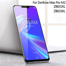 WeeYRN 2 PCS Glass for Asus Zenfone Max Pro M2 ZB631KL / MAX ZB633KL Tempered Full Screen Protector Protective