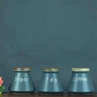 Ceramic Coffee Storage Jar Kitchen Snack Fresh Food Storage Box Tea Sugar Sealed Cans Small Tank Chinese Style Jar Gift