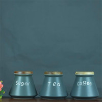 Ceramic Coffee Storage Jar Kitchen Snack Fresh Food Storage Box Tea Sugar Sealed Cans Small Tank Chinese Style Jar Gift