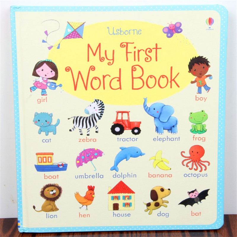 English picture book :new board books --My first word book , English dictionary for baby and kids early education my abc sticker activity book