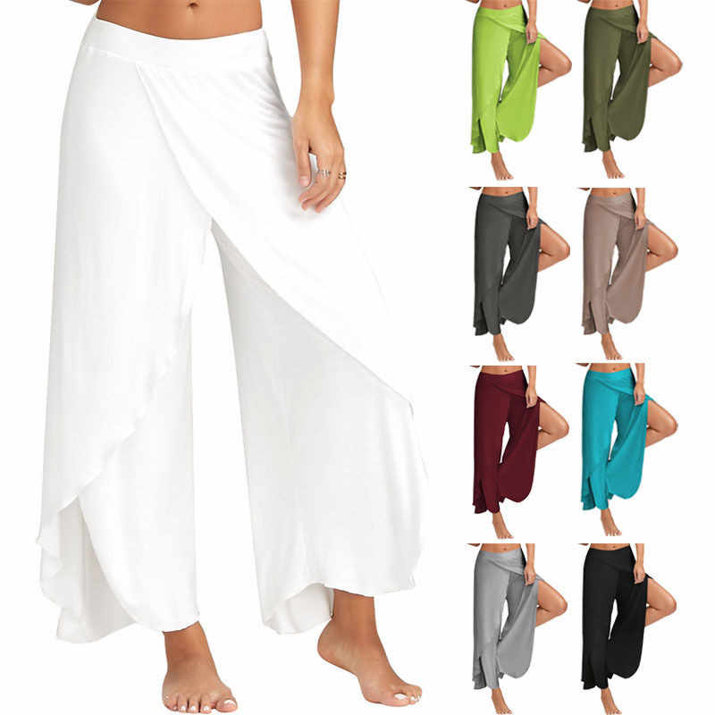 6152dd5e8c Summer Women Flowy Layered Palazzo BOHO Wide Leg Pants Casual Loose  Trousers Pants