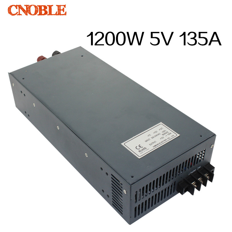 1200W 5V 135A adjustable 110V or 220V input Single Output Switching power supply for LED Strip light AC to DC best quality 12v 15a 180w switching power supply driver for led strip ac 100 240v input to dc 12v