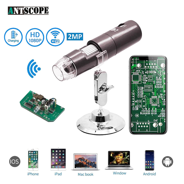 1080p wifi digital microscope 1000x for iphone android smartphone pc