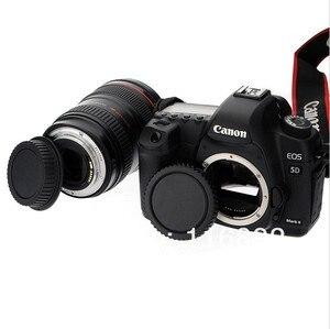 Image 3 - 10 paires de capuchon de corps dappareil photo + capuchon dobjectif arrière pour Canon 1000D 500D 550D 600D EF EF S rebelle T1i eos appareil photo