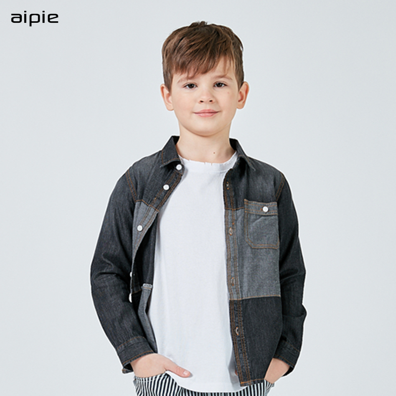 f4150b846daaa aipie Top Quality Children Boys Shirts European and American Style Solid 100%  Cotton Shirts For 4-13 year Kid Wear