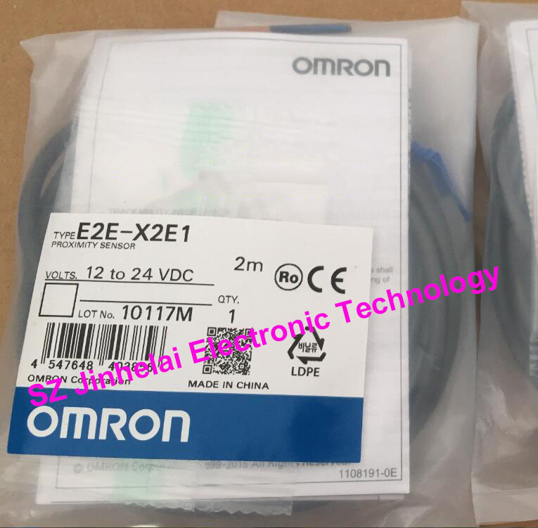 100% New and original OMRON Proximity switch, Proximity sensor E2E-X2E1   2M  12-24VDC new original proximity switch im12 04bns zw1