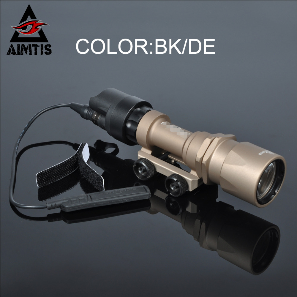 AIMTIS Best M951 Tactical LED Flashlight AR Military Weaponlight Constant and Momentary Output with Tape Switch