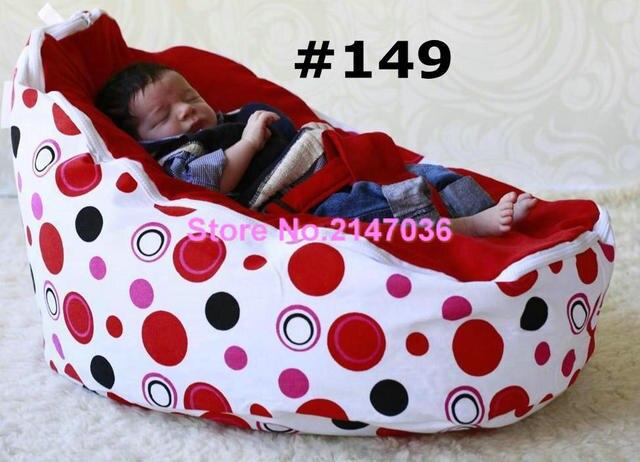 red dots baby bean bagcotton canvas fabric kids bean bag chairsbean bag