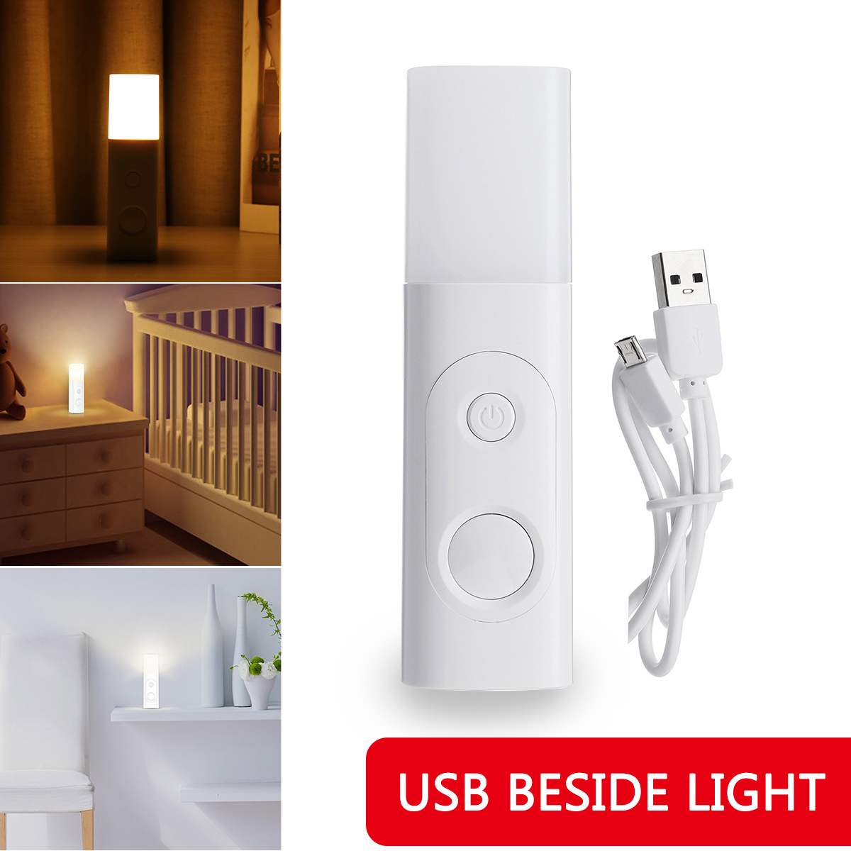 1200mA Portable Eye Protection Charging Body Induction Night Light LED Flexible USB Reading Light Clip-on Table Desk Lamp