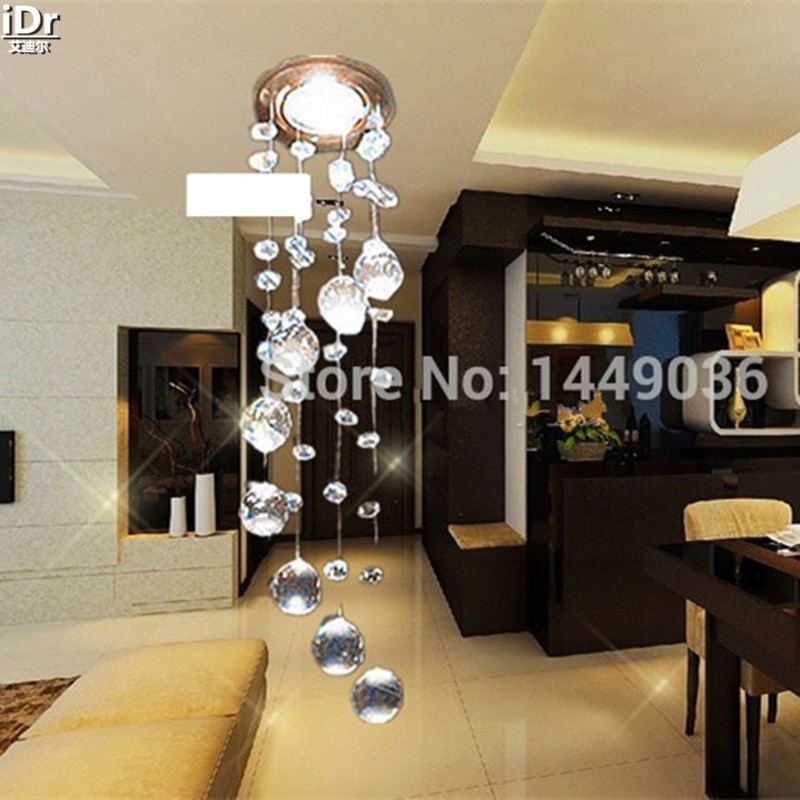 Modern Crystal Chandeliers Fixture Spiral Crystal Lamp Crystal lustre Light fitting LED for Aisle Hallway Porch Staircase 0128 недорго, оригинальная цена
