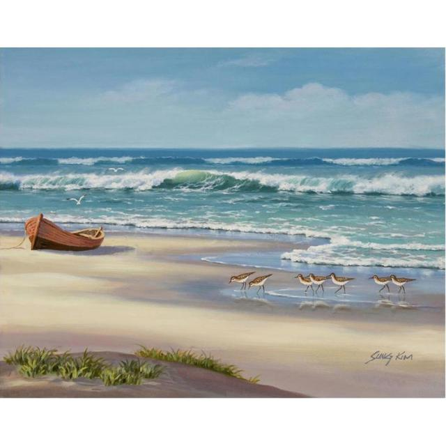 Dipinta a mano di arte contemporanea paesaggi marini pittura a Olio ...