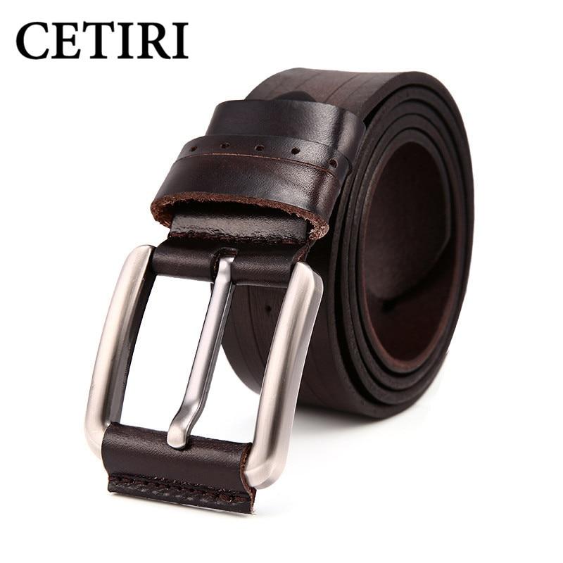 Designer Belts Men Leather Top Grain Genuine Leather Casual Belts Pin Buckle High Quality Belt Men Cowhide Strap Male Cintos