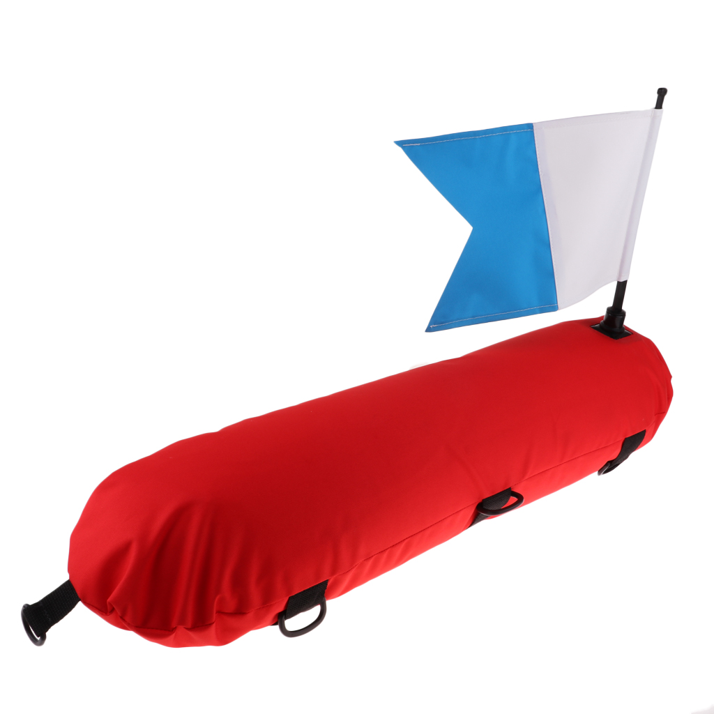Scuba Diving Snorkeling Spearfishing Inflatable Marker Float And Dive Flag Inflatable Diver Down Flag Float Marker