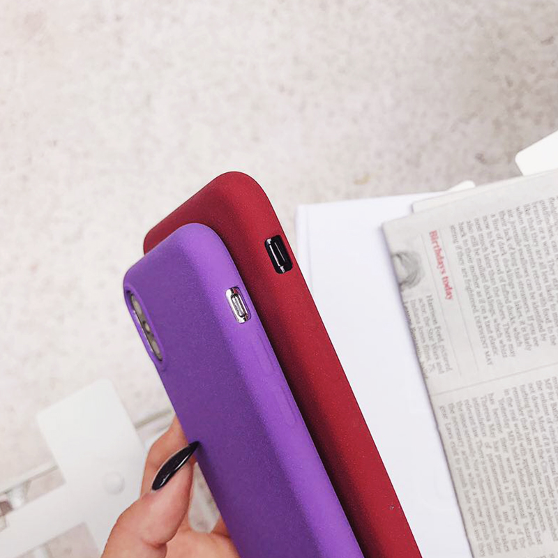 Protect cover case for iphone 6 6S 8 7 plus X 10 Xs Max Xr soft matter Couple suit coque cases For 8 plus Frosted phone cases