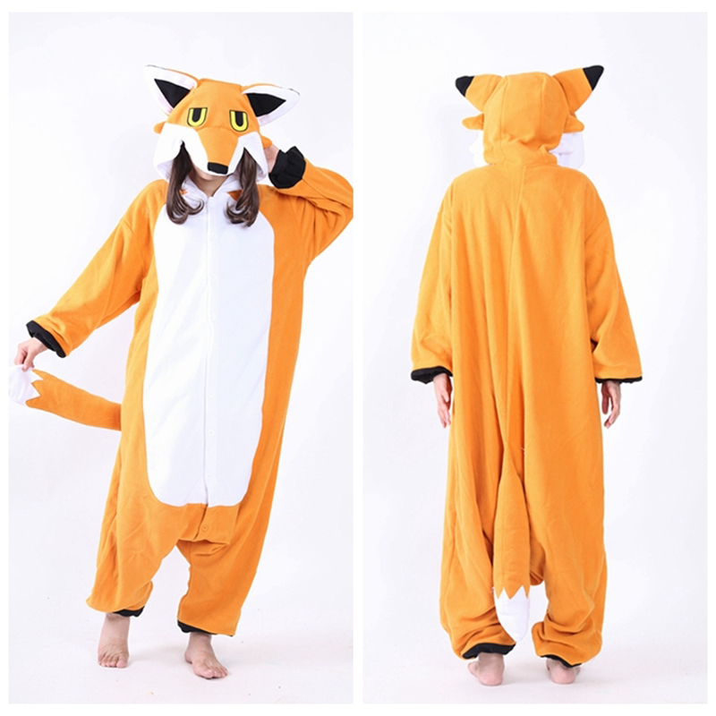 Animal Pijama Cospaly In Chinese Market Online Fleece Hooded Mr Fox Pajamas Onsie For Me ...