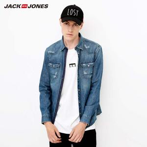 Image 1 - Jackjones Casual Katoen & Linnen Vintage Denim Shirt 218305508