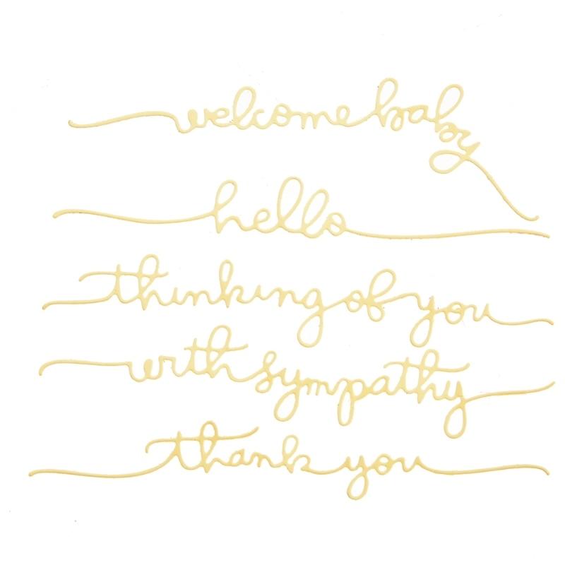 Creative Word Cutting Dies Stencil Scrapbooking Embossing Album Paper DIY Card