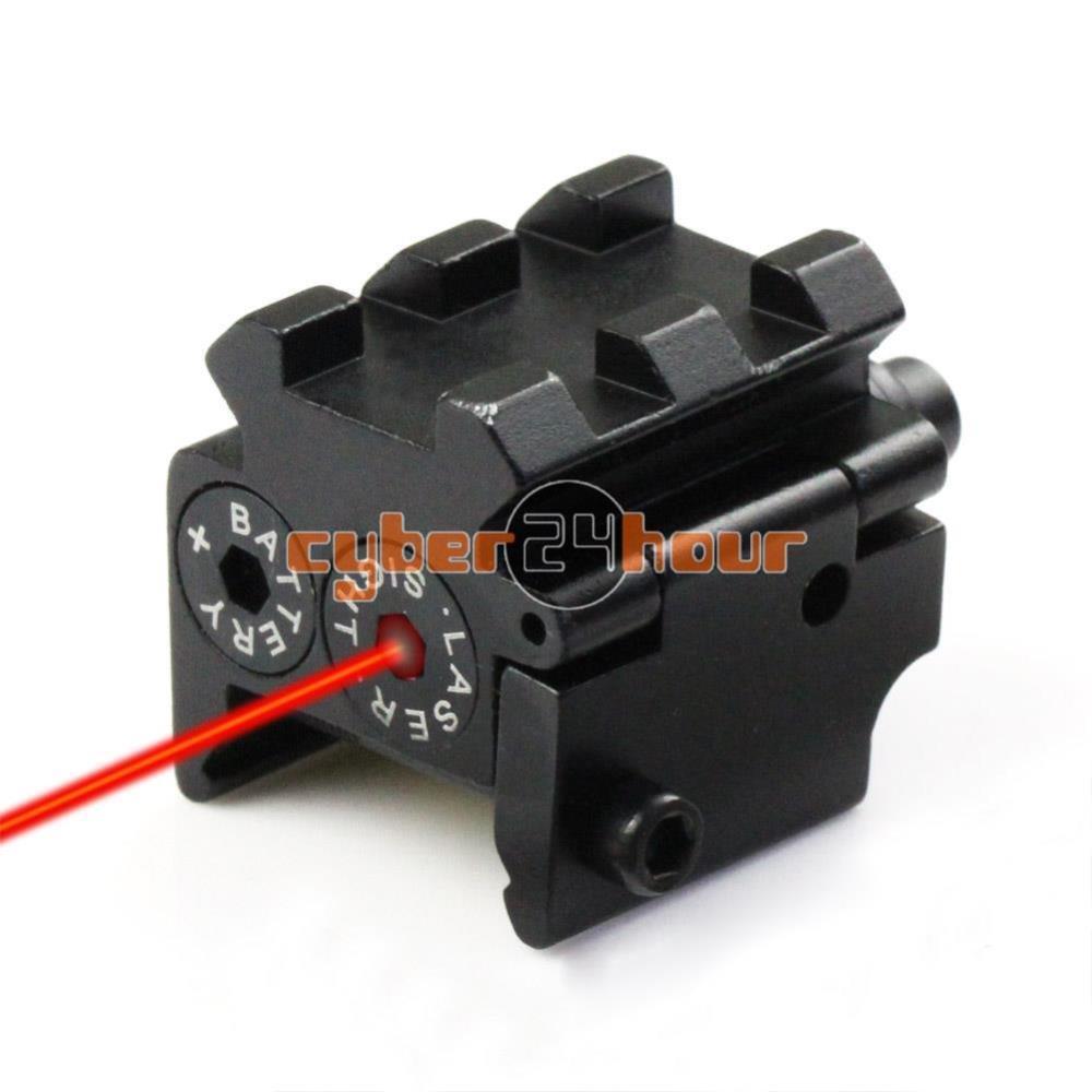 Tactical Mini Pistol Red Dot Laser Sight Scope Rail Weaver/Picatinny Rail Mount