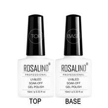 ROSALIND Top& Base Coat Гель-лак для ногтей 2 шт. Top It Off+ Базовое покрытие гель для нанесения основания Набор лаков для ногтей 10 мл УФ-грунтовка для ногтей