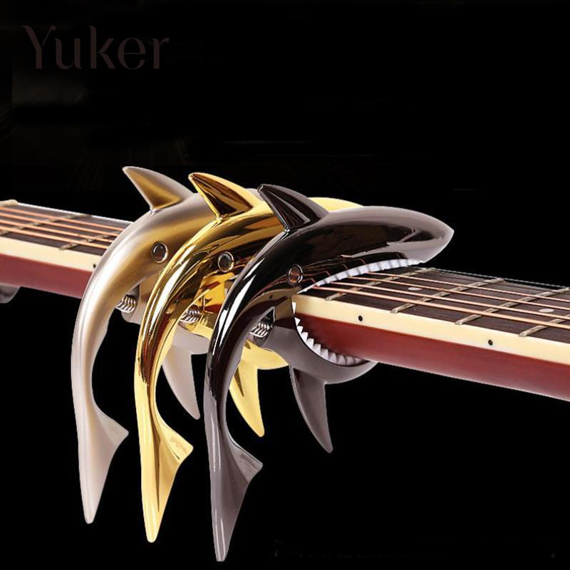 Yuker Shark Guitar Capo Zinc Alloy Quick Change Clamp For Acoustic Classic Electric Guitarra Musical Instrument Accessories amumu traditional weaving patterns cotton guitar strap for classical acoustic folk guitar guitar belt s113
