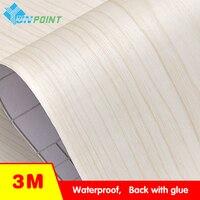 60 300cm PVC Self Adhesive Waterproof Wall Paper Furniture Renovation Wood Grain Wall Stickers Kitchen Wardrobe