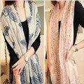 Lastest пляж шаль, Пляж саронг, Синий и белый фарфор стиль шарф вуаль женщины шарфы