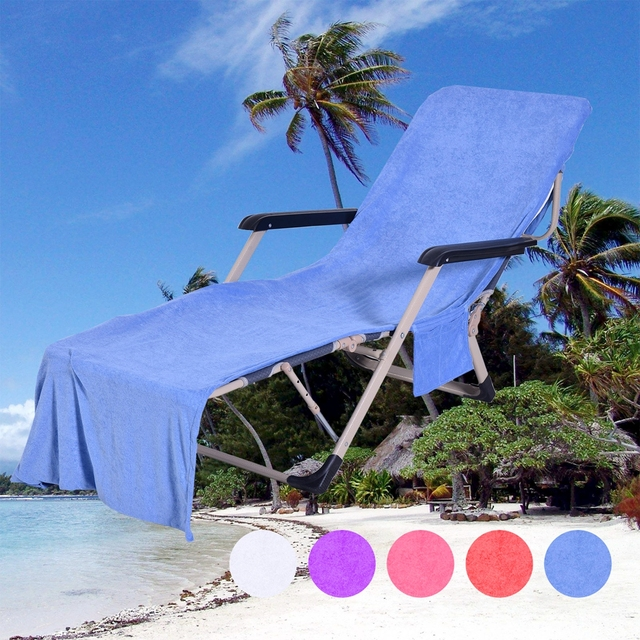 beach towels with pocket for lounge chair fur covered exercise ball lounger mate towel adults sun bed holiday garden swimming pool pockets carry bag chairs cover bath