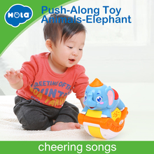 Купить с кэшбэком HUILE TOYS 3105C Baby Toys Musical Sliding Animals Elephant with Lights & Music Electronic Toys Pets Toys for Children Boy Gifts