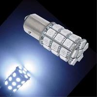 PA LED 2pcs x Super Bright 1157 BAY15D Color WHITE 14V Motorcycle Brake Light 30SMD 5050 LED