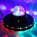 Мини RGB Laser LED DJ Club Паб Дискотека Музыка кристалл Magic Ball Стадия Световой эффект С USB Disk Дистанционного управления