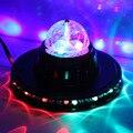 Mini RGB Laser LED DJ Club Pub Disco Party Music Crystal Magic Ball Stage Effect Light With USB Disk Remote Control