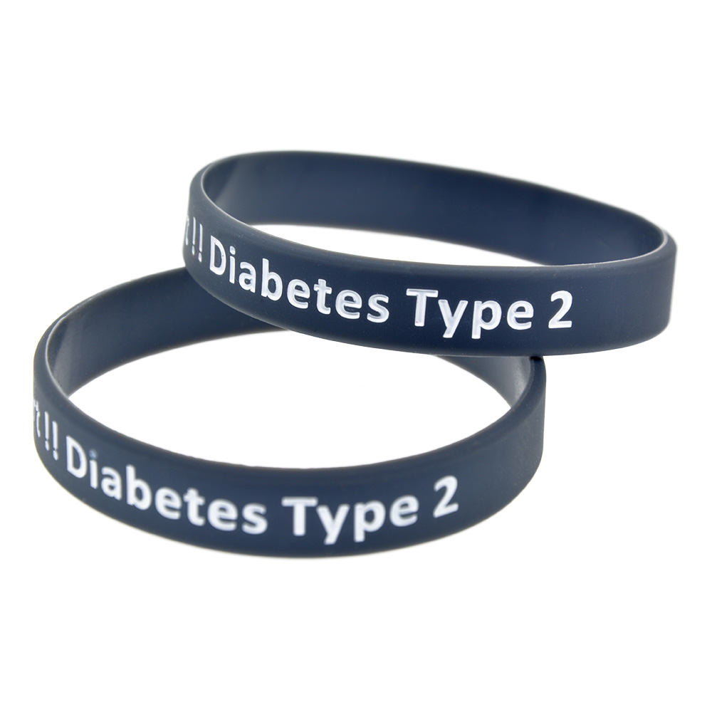 Colour therapy for digestion - Colour Therapy For Diabetes New Colour 50pc Lot Medical Alert Type 2 Diabetes Silicone Wristband