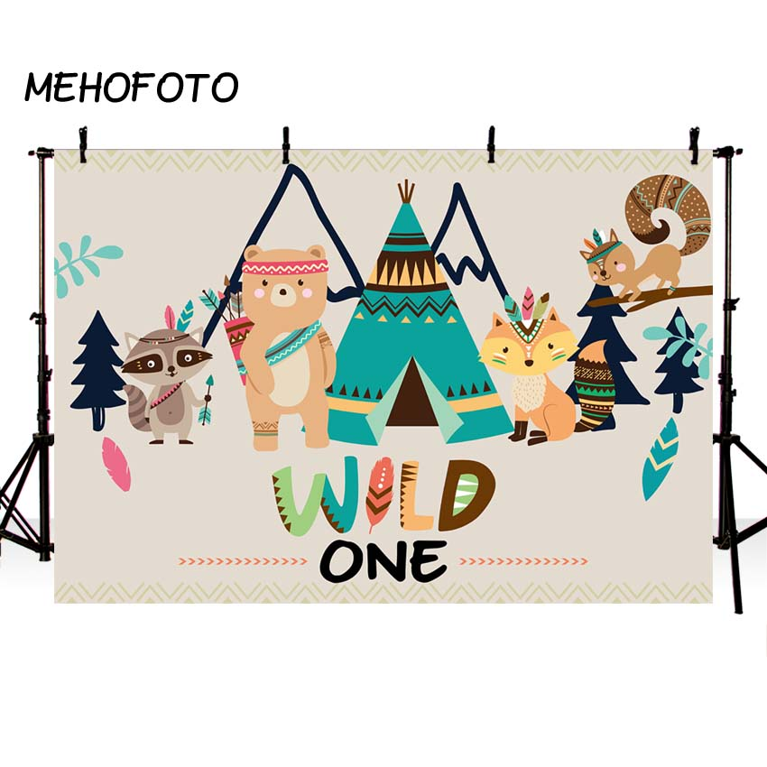 Mehofoto Dinosaur Theme Backdrop Birthday Party Photo Backdrops Green Leaves Woodland Cake Table Banner Photography Background Background