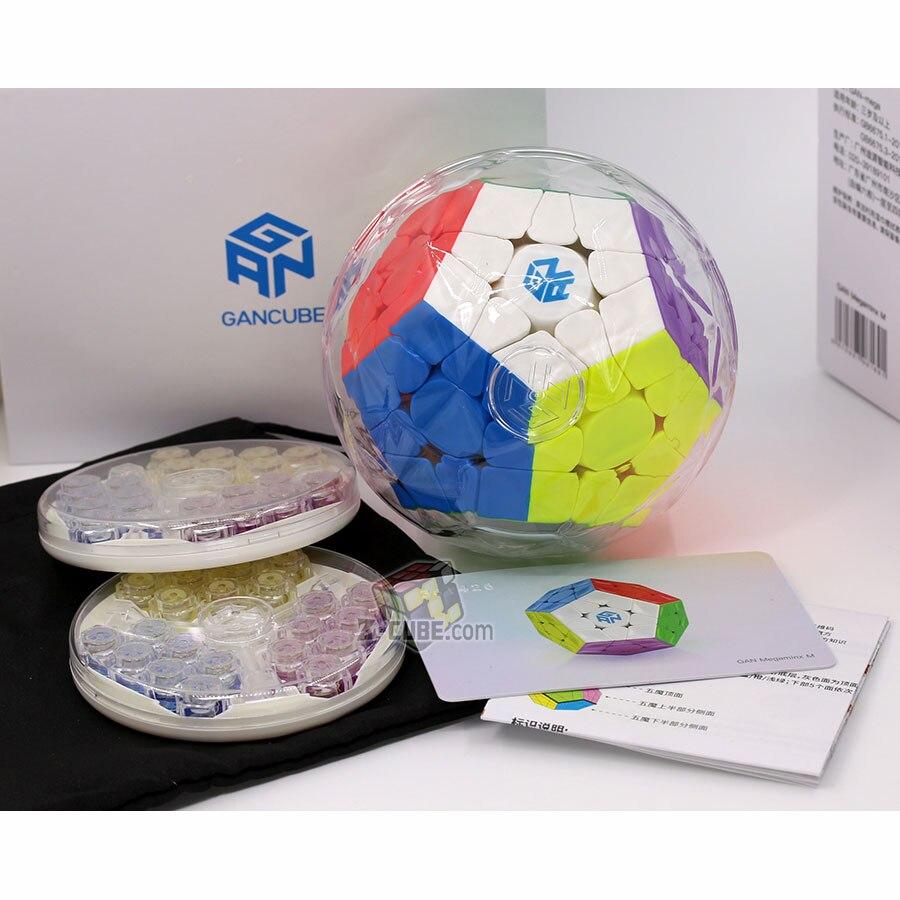 Cube magique puzzle GAN mega M megaminxeds magnétique gancube 12 faces cube dodecahedron professionnel megamin x vitesse cube jouets - 2