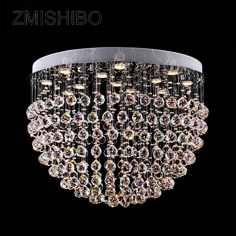 ZMISHIBO 110V/220V Crystal Ceiling Pendant Lamp European Style Ball Diameter 80CM GU10 Socket 13 Bulbs Surface Mounted Lighting 6 5ft diameter inflatable beach ball helium balloon for advertisement