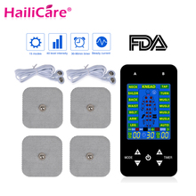 FDA Tens Unit Muscle Stimulator Pulse Massage 2 Channels LCD EMS Massager Back Neck Stress Sciatic Pain and Muscle Relief недорого