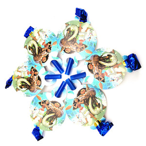 Image 2 - 152 개/몫 모아 나 마우이 일회용 식기 세트 어린이 날 어린이 생일 장식 이벤트 용품 다양한 메이커