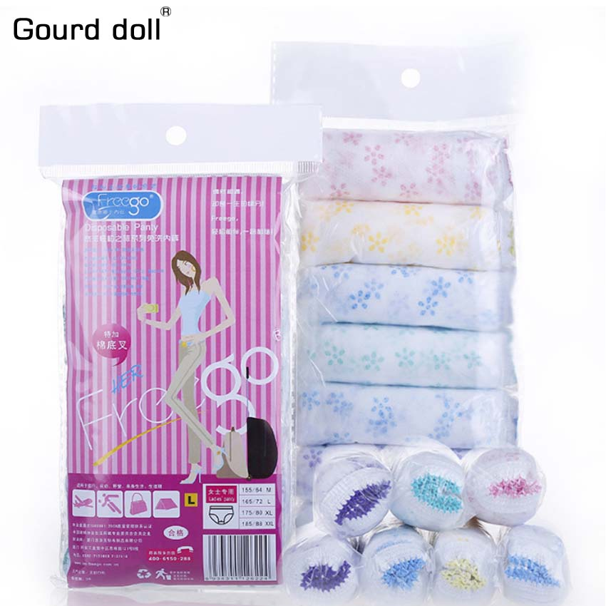 7PCS/lot Maternity Pregnant Briefs Sterilized Disposable Underwear Travel Panties Clean Intimate Prenatal Postpartum Paper pant