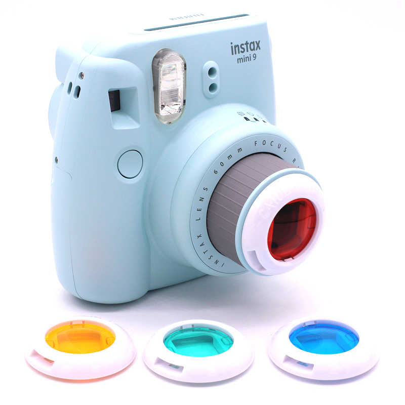 4 PZ Colore Filter Set Close Up Lens Per Fuji Fujifilm Instax Mini 9 8 7 s