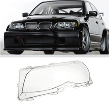 Left Driver Side Headlight Lens Plastic Cover For BMW E46 3-Series 4DR 2001 2002 2003 2004 2005 63126924045 Replacement Part