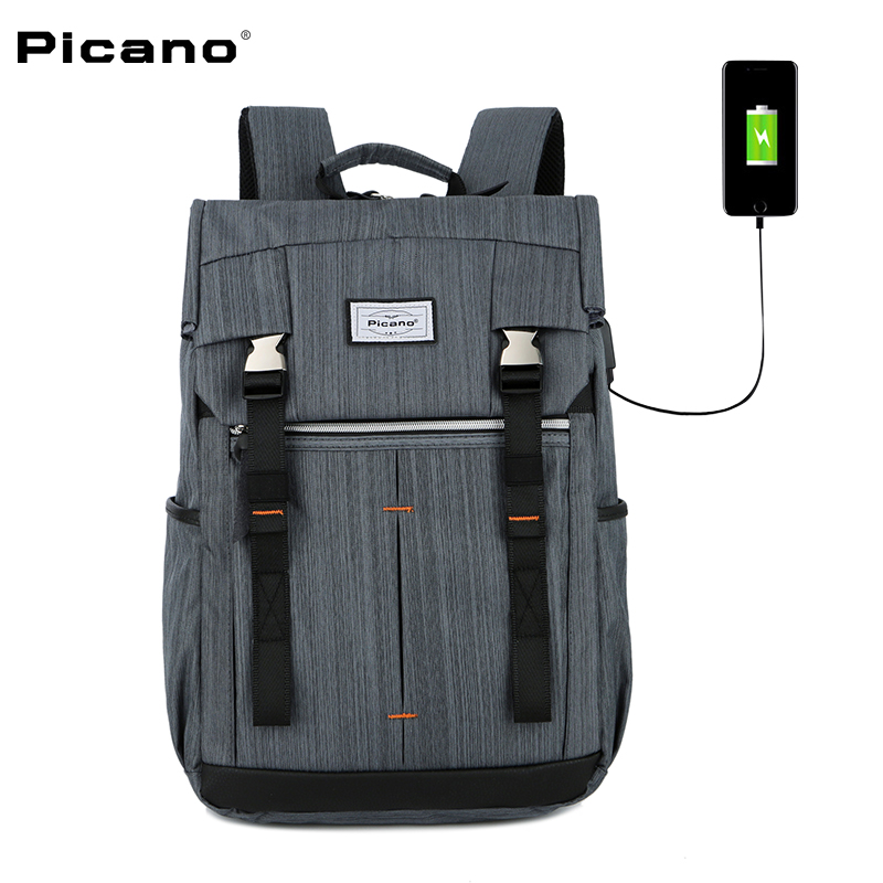 PICANO New arriving Men Backpack guard against theft with USB charging Business backpack For 15.6 inch laptop Travel Bag arriving in avignon
