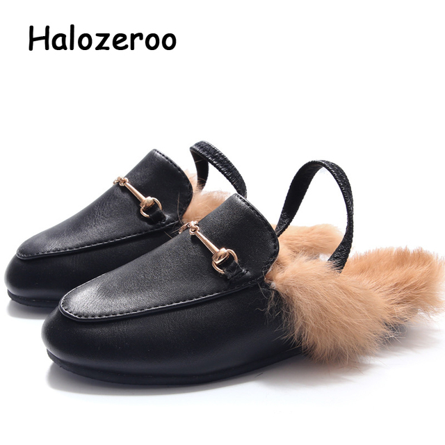 a53600d56ee9 Halozeroo-2018-Children-Fashion-Mules-Baby-Girl-Fur-Slip-Flats-Toddler-Pu- Leather-Black-Slipper-Brand.jpg_640x640.jpg