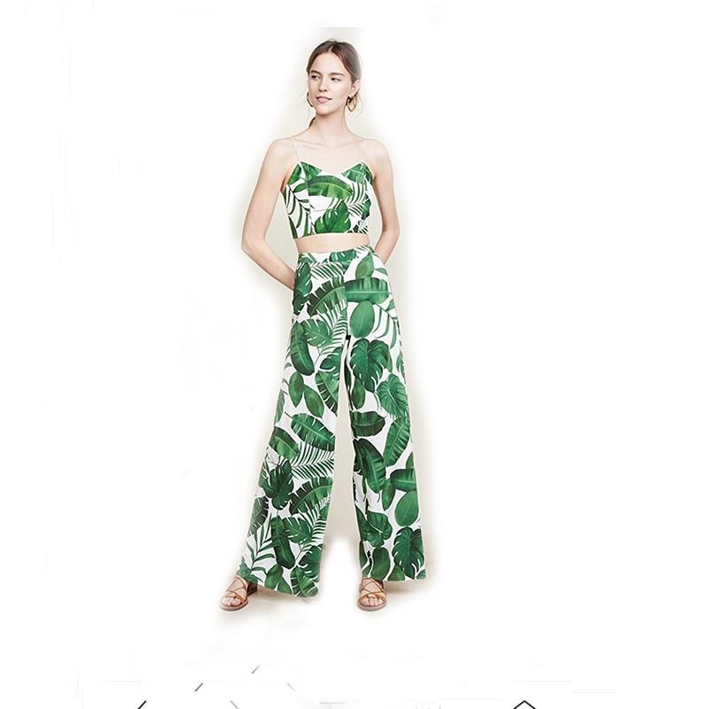Verde Ancha 10xl Impresión Longitud Mujer Casual Pierna Tamaño La 3xs Pantalones Completa De Hoja Moda Plus w6YqT4