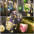 Curtain Lights 4M*0.3 0.4 0.5m 96leds Multicolor Handmade Rattan Balls String Fairy Party Patio Decor Party Night Twinkle bulb