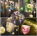 Luzes da cortina 4 M * 0.3 0.4 0.5 m 96 leds Multicolor Handmade Bolas De Vime Da Corda Do Partido de Fadas Decoração Do Pátio Noite de festa Twinkle lâmpada
