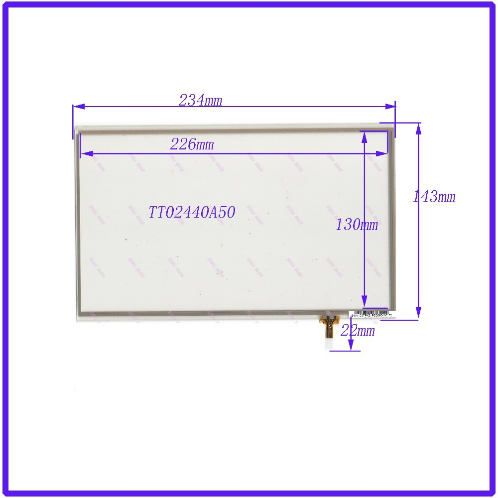 ZhiYuSun 10.1 inch touch screen  TT02440A50  S4101C07P4ZIPD2095410128  234*142  FREE Shipping zhiyusun new 10 4 inch touch screen 239 189 for industry applications 239mm 189mm 8 lins 47f8104025 r13 commercial use