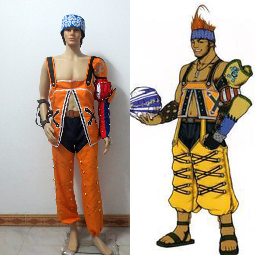 Final Fantasy 10 Wakka Cosplay Costume Custom Made Free Shipping
