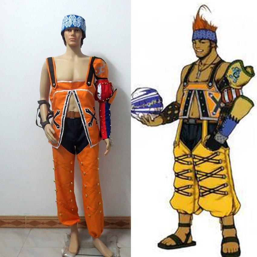Final Fantasy 10 Wakka Cosplay Costume Custom Made Free Shipping