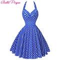 Summer Beach Dress pin up Audrey Hepburn Style 2017 Retro Vintage Plus Size women clothing 50s 60s Big Swing Polka Dot Dresses